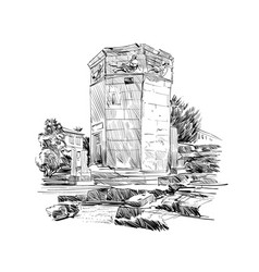 Tower of the winds roman agora athens greece vector