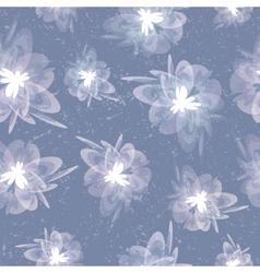 Vintage floral grey seamless background vector image vector image