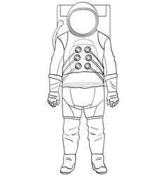 a man astronaut in a suit is isolated object on vector image