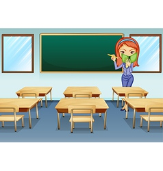 A teacher in the classroom vector