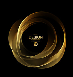 abstract shiny color gold wave design element vector image
