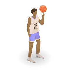 African basketball man icon isometric style vector