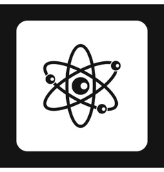 Atom with electrons icon simple style vector image