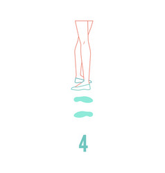 ballerina feet in pointe shoes standing in fourth vector image