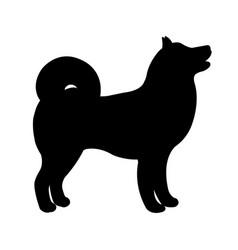 black dog silhouette vector image