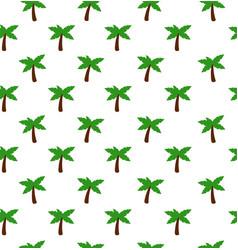 black palm seamless pattern vector image