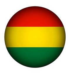 Bolivia flag button vector image