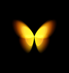 butterfly isolated logo bright colorfull vector image