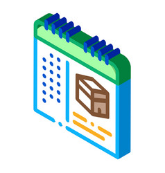 Calendar time visiting kaaba isometric icon vector