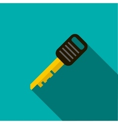 Car key icon in flat style vector image