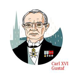 Carl xvi gustaf portrait vector