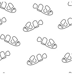 clown fish pattern seamless vector image