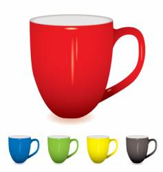 coffee cup variation vector image
