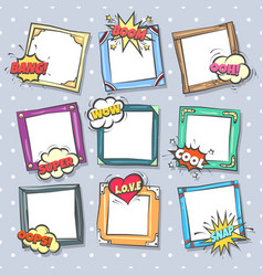 comics design frames vector image