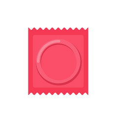 Condom packed isolated contraceptive on white vector