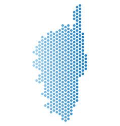 Corsica france island map hexagonal scheme vector