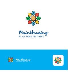 creative nuclear logo design flat color logo vector image