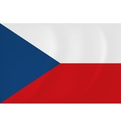 Czech Republic waving flag vector image