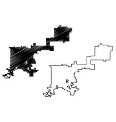 Denver city map vector
