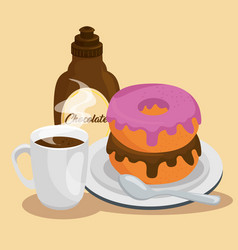 Dessert muffin sweet icon vector