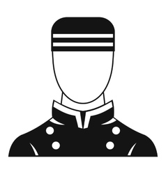 Doorman icon simple style vector