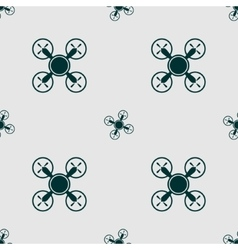 Drone quadrocopter icon seamless pattern vector image
