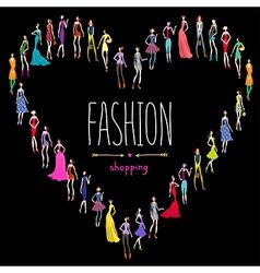 Fashion shopping love vector