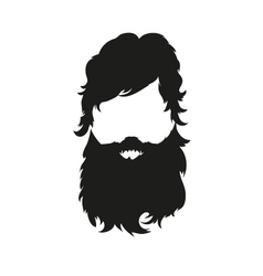 Fashion silhouette hipster style vector image