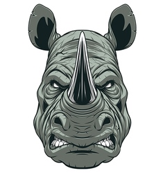Ferocious rhinoceros head vector