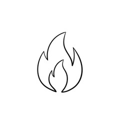 fire flame hand drawn sketch icon vector image