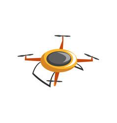 Flat icon of electric quadrocopter radio vector
