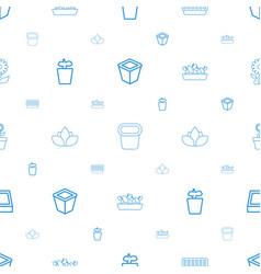 flowerpot icons pattern seamless white background vector image
