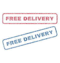 Free delivery textile stamps vector