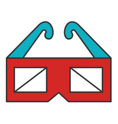 Glasses 3d cinema icon vector