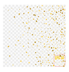 gold glitter background polka dot vector image