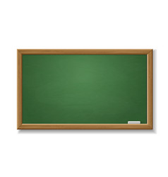 green blackboard empty realistic old chalkboard vector image