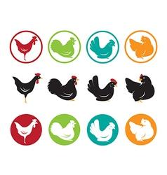 image an hen design vector image