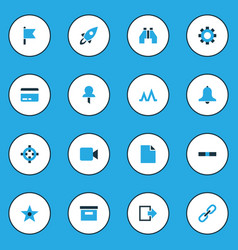 Interface colorful icons set collection events vector