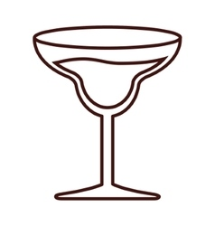 Isolated cocktail glass design vector