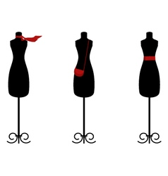 Isolated fashion trio on white vector image