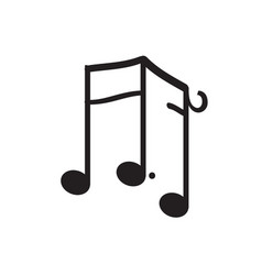 Isolated sixteenth musical note vector