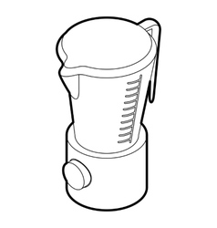 Kitchen blender machine icon outline style vector image