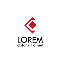 Letter c geometric logo vector