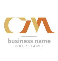 letter c m alphabet element icon vector image
