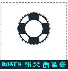 lifebuoys icon flat vector image