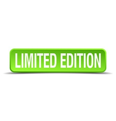 Limited edition green 3d realistic square isolated vector