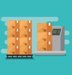 Logistic services with boxes and balance vector