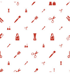 Manicure icons pattern seamless white background vector