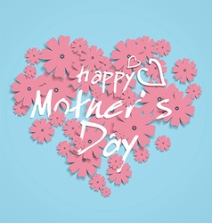 Mothers Day-themed heart-shaped graphic design vector