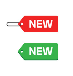 new product label badge or sticker arrival status vector image